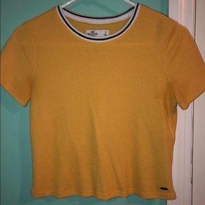 Hollister mustard T shirt